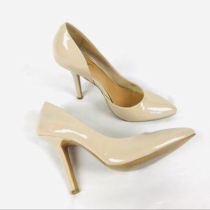 BCBG Paris d'Orsay pointed toe nude jaze heels